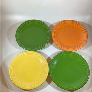 "4 Fiestaware 7"" Plates"